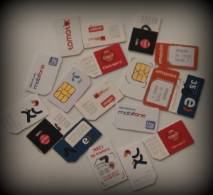 SIM cards from around the world