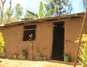 The coffee farmer's house where we roasted our coffee