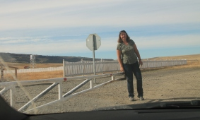 Suzanne handling the border guard duties in Chile