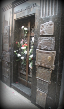 Evita's modest tomb got the most attention in the yard