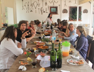 Lunch is a festive event every day at Enrique's enstacion
