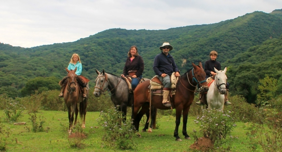 Family Sherry on a trail ride