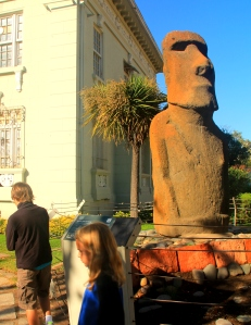 Easter Island statue outside the museum of Easter Island in Vina del Mar