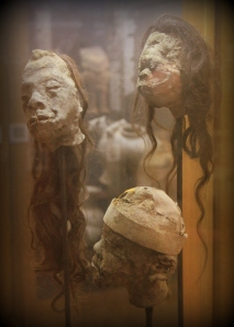 REAL shrunken heads from Easter Island!